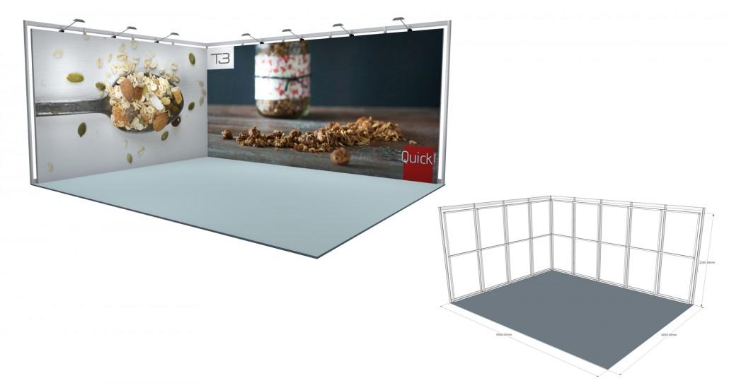 Corner Exhibition Stands Kit : Self build stands self build stands